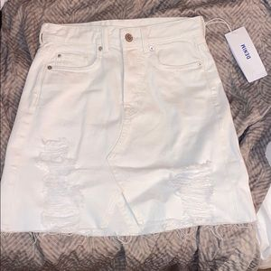 Brand New White Denim Skirt (hi-rise)